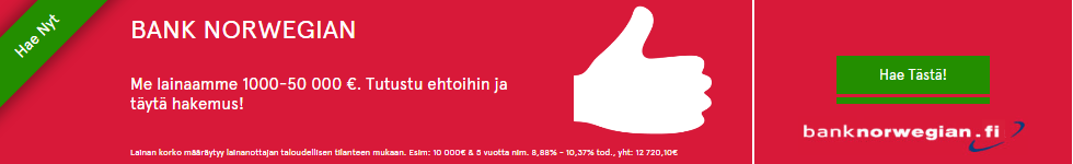 Bank Norwegian on netin laadukkain ja edullisin laina 2016