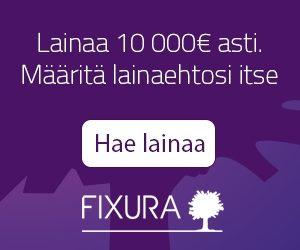 Fixura - Lainaa 10.000e saakka - määritä itse omat ehdot luotolle!