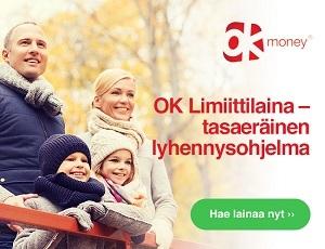 OK Limiittilaina - tasaeräinen lyhennysohjelma 2100 euron joustoluotolle!