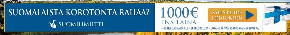 Paras ensilaina tarjous koskaan Suomessa: Avaa 2000e tililuotto ja saat 1000e luoton kuluitta nyt netissä.