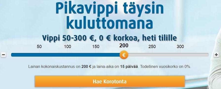 Hae Ferratumin ilmainen pikavippi tästä yhdellä klikkauksella, kulut: 0€!