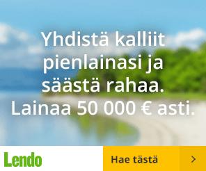 Lendon kulutusluotto on ainutlaatuinen koska se kilpailutettu yli 15:lla suomalaisella pankilla käsin ammattilaisten toimesta