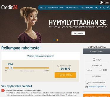Credit24:n uutena asiakkaana saat nyt jopa kaksi maksuvapaata kuukautta.