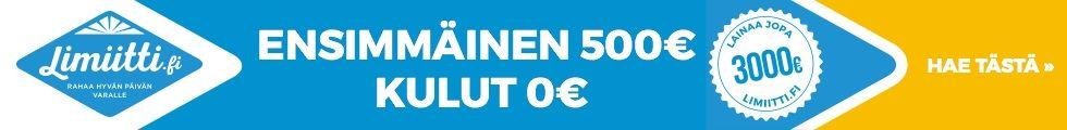 Mitä enää odotat? Hae lainaa nyt tilille 0€ kuluilla.