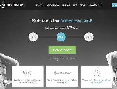 NordCreditiltä heruu kuluton laina 18v ikärajalla netistä.