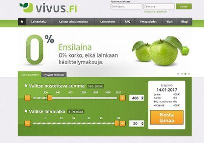 Vivus.fi on Suomen ensimmäinen ilmainen pikavippi 10 - 400 euroa.
